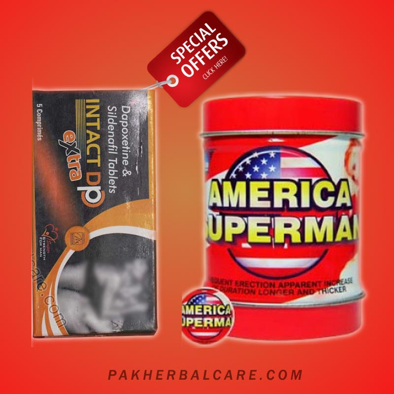 Pack of 2 Intact Dp and American superman tablets Tablets